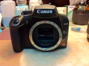 Canon Digital Rebel XS Sensor Cleaning